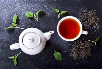 Quadro Teiera e tazza di tè alla menta