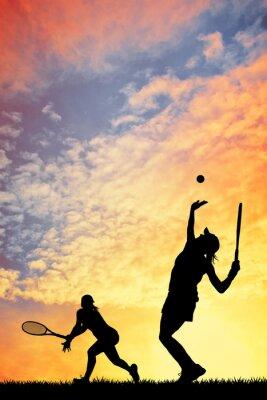 Quadro Tennis al tramonto