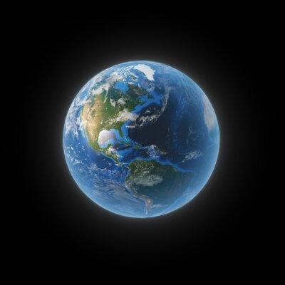 Quadro Terra dallo spazio mostrando il Nord e Sud America