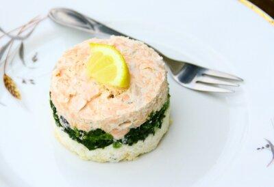 Quadro terrine de saumon, épinards