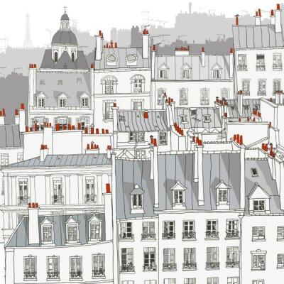 Quadro Tetti di Parigi