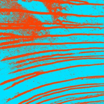 Quadro Texture muro blu con macchie rosse di sangue. Illustrazione vettoriale.