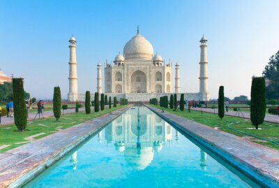 Quadro The morning view of Taj Mahal monument