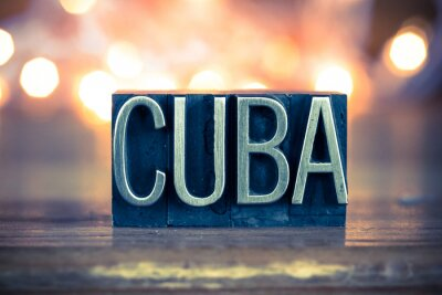 Quadro Tipo Cuba Concetto metalli tipografica