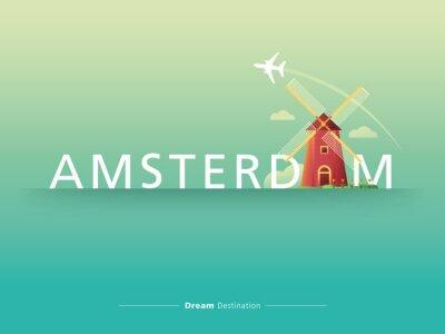 Quadro Tipografia Amsterdam
