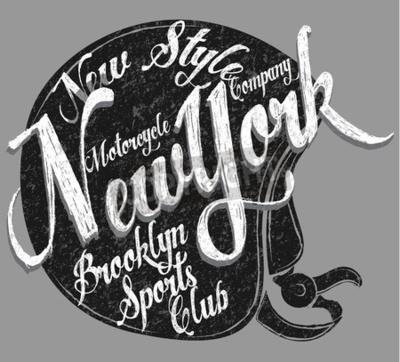 Quadro Tipografia del casco del motociclo New York Sports Club