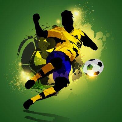 Quadro Tiro calciatore Colorful