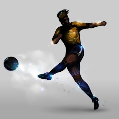 Quadro Tiro potere astratto calcio