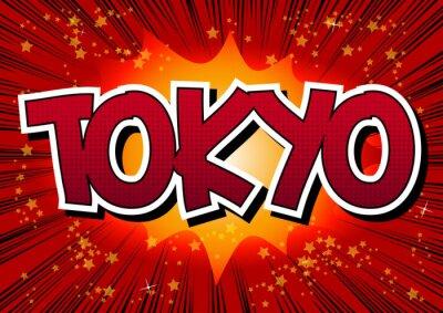 Quadro Tokyo - Comic book parola stile.