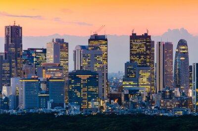 Quadro Tokyo orizzonte al crepuscolo