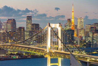Quadro Tokyo Tower Rainbow Bridge