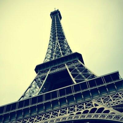 Quadro Torre Eiffel a Parigi, Francia con un effetto retrò