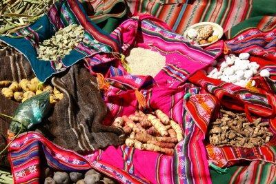 Quadro Traditionelles Essen auf den Isole Uros - Titicacasee, Perù
