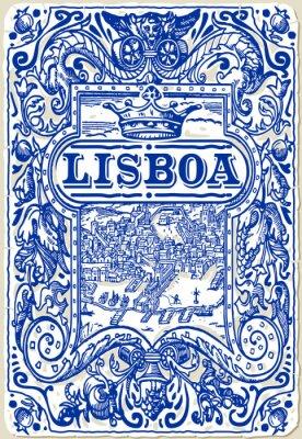 Quadro Tradizionale Piastrelle Azulejos Lisboa, Portugal