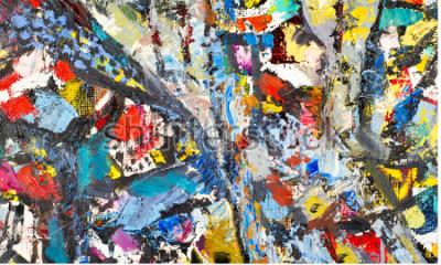 Quadro Trama, sfondo, modello. Pittura dipinta da un artista. Struttura astratta del fondo di arte, pittura acrilica su tela. Sagome di persone, temi orientali,