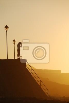 Quadro tramonto a Lanzarote