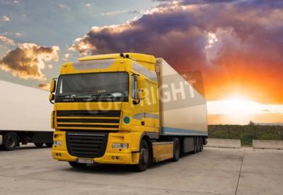 Quadro trasporto merci con sole - Camion