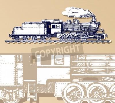 Quadro treno d'epoca.
