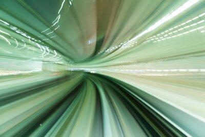Quadro Treno in movimento veloce in galleria