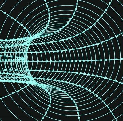 Quadro Tridimensionale tunnel astratto o un tubo