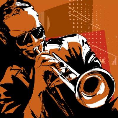 Quadro Trombettista Jazz
