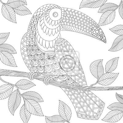 Tucano Adulti Colorare Antistress Mano Doodle In Bianco E Nero