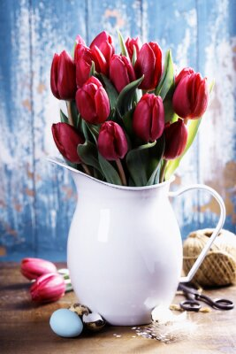 Quadro tulipani della sorgente