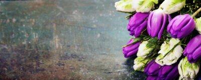 Quadro Tulipani su uno sfondo di legno