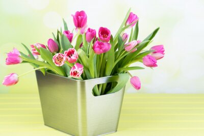 Quadro Tulpenstrauß in der vaso