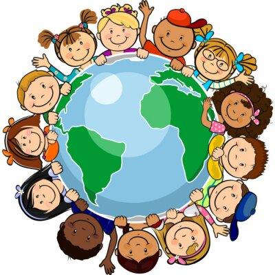 Quadro Tutti uniti nel mondo