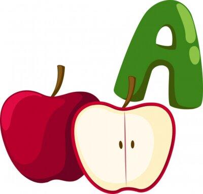 Quadro Un alfabeto per la mela