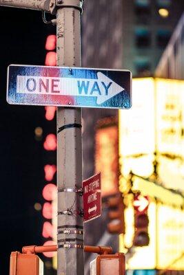 Quadro Un modo New York segnale stradale
