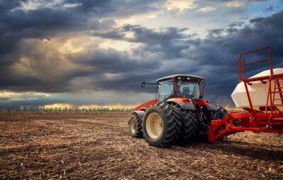 Quadro Un potente trattore lavora sul campo