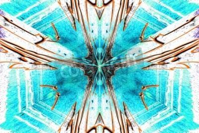 Quadro Un symetric stella astrazione