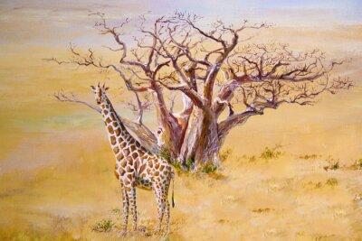 Quadro Una giraffa, Kenya