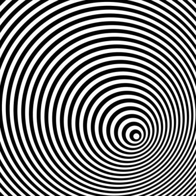 Quadro Una illusione ottica in bianco e nero