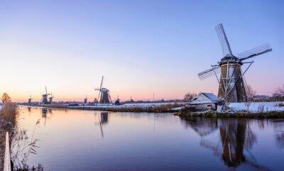 Quadro Una mattina d'inverno in Olanda