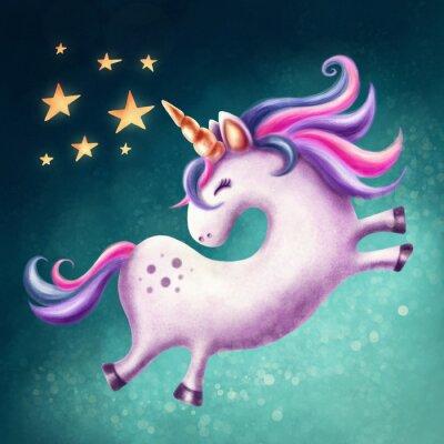 Quadro Unicorno carino