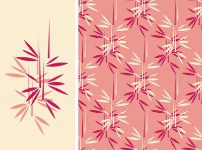 Uno stile di bambù senza soluzione di piastrelle giapponese e