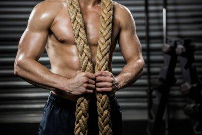 Quadro Uomo senza camicia con la corda intorno al collo di battaglia