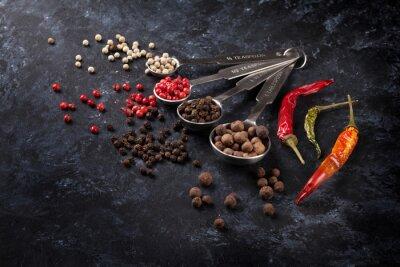 Quadro Vari pepe e peperoncino