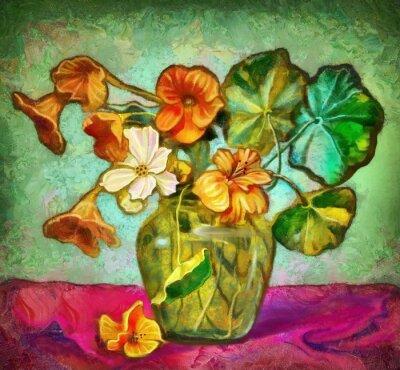 Quadro Vaso di fiori di vetro
