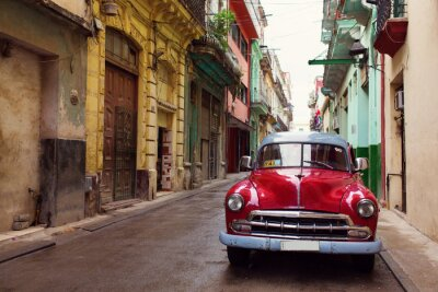 Quadro Vecchia auto Classic su strade di L'Avana, Cuba