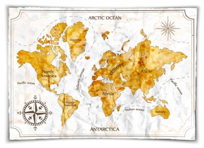 Quadro Vecchia mappa
