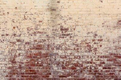 Quadro Vecchio muro di mattoni in un fondo