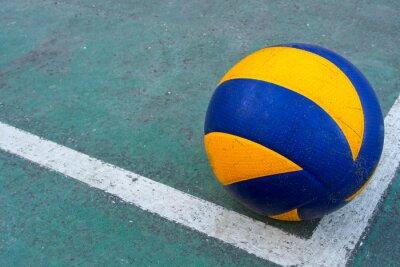 Quadro Vecchio pallavolo su un campo sporco