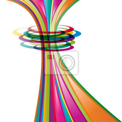 Quadro Vector Abstract background, con cerchi