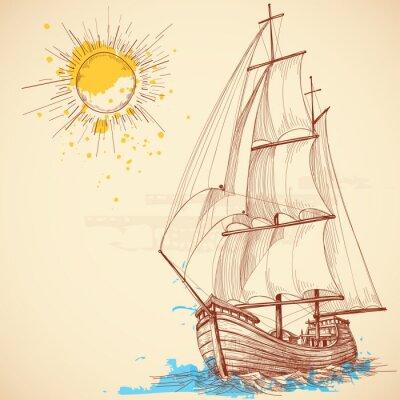 Quadro Vector barca a vela