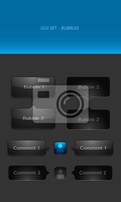Quadro Vector elementi dell'interfaccia utente - Chat Bubbles