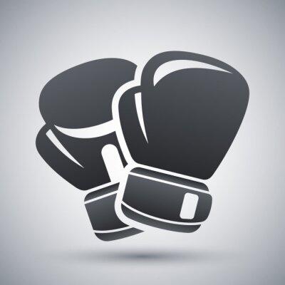 Quadro Vector guantoni da boxe icona